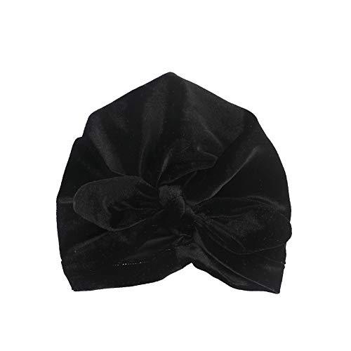 Culer Kinderkopfbedeckungen Reversed Turban Kopftuch Hut mit Kapuze Kaninchenohren Verknotete Indian Hut für Baby-Kind (Schwarz) - Mädchen Indian Hut Für