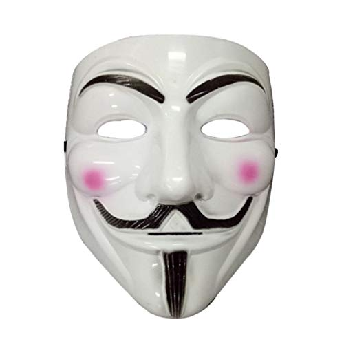 Bongles Party-Masken V für Vendetta-Maske Vollgesichtsmaske Anonymous Guy Fawkes Halloween-Maskerade-Partei-Gesichts Partei-Gesichts (V For Vendetta Kostüm Kinder)