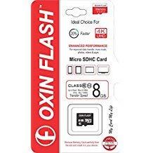 Oxin Flash 8GB MicroSDHC Class 6 Class 10 Memory Card