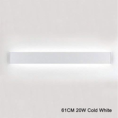 K-Bright LED Wandleuchte Spiegellampe Weiß Wandlampe,20W,61CM Up und Down LED Wandbeleuchtung,IP 44,Abstrahlwinkel 120°,Kaltes Weiß 120 Weiße Led