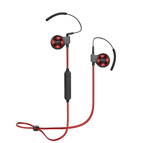 Bt-audio (Origem HS-3 Bluetooth Kopfhörer mit HDR-Audio & Sprachsteuerung & BT 5.0,wasserdichte Sport Kabellose Ohrhörer mit 40 Minuten Schnellladung für Joggen/Laufen/Fitness (Rot))
