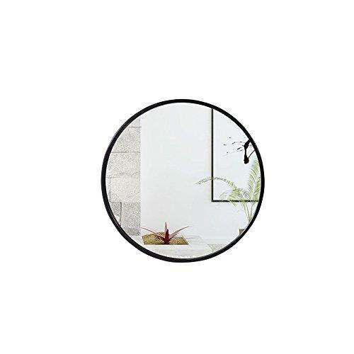 Mirror Spiegel - Badezimmer Badezimmer Kosmetikspiegel/Wandbehang/Europäische Waschspiegel 40/50/60/70cm (Farbe : Schwarz, größe : 40 cm)
