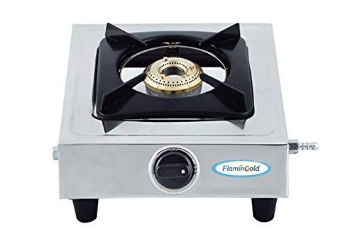 Flamingold Single Burner Gas Stoves ISI Standard 1 Stainless Steel LPG Cooktop