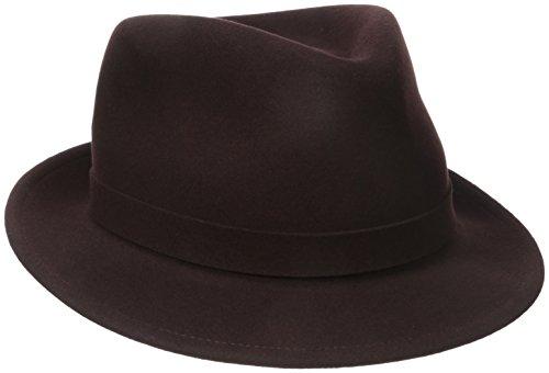 Kangol Herren Litefelt Hiro Trilby, modisch, mittlere Krempe Fedora - Braun - MEDIUM (Fedora-hüte Für Männer Mittleren)