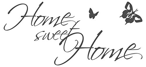 dekodino Wandtattoo Spruch Home Sweet Home Wohnzimmer Schlafzimmer Bett Kuschelecke Deko