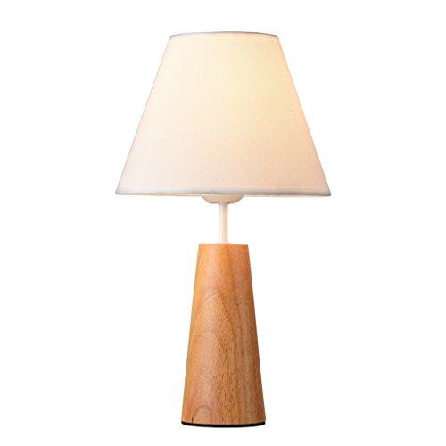 JIAHONG Modernes, einfaches Massivholzbett Warmlicht Tischleuchte, warmes Studium der europäischen kreativen dekorativen Tischlampe