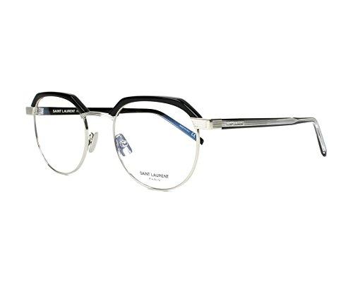Preisvergleich Produktbild Saint Laurent - SL 124, Rund, Metall, Herrenbrillen, BLACK SILVER(001 D), 50/0/0