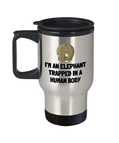 Taza de viaje con diseño de elefante, ideal para regalar a los...