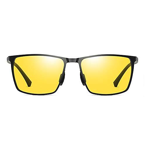 Sunglasses LWS L.W.SURL Tag und Nacht kombinierte Sonnenbrillen mildern schillernden Sonnenschein UV400 mit Brillenputztuch und Etui (Color : Night Vision, Size : Kostenlos)