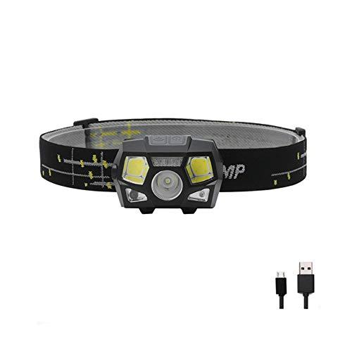LED-Stirnlampe, USB-Scheinwerfer10000 lumen led scheinwerfer motion sensor ultra bright schutzhelm kopf lampe leistungsstarke scheinwerfer usb wiederaufladbare wasserdicht