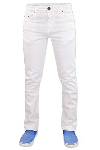 True Face Herren Jeanshose TF022 Slim Fit Stretchable Denim Gr. 30 W/32 L, weiß -