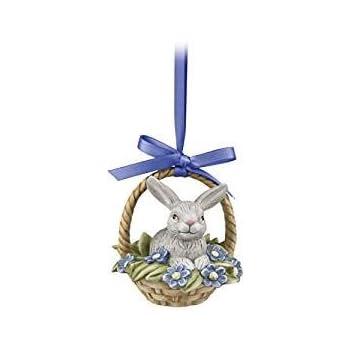 Goebel Jahresornament 2019 H/äschen im Blumentopf mit Stiefm/ütterchen Ostern Hase