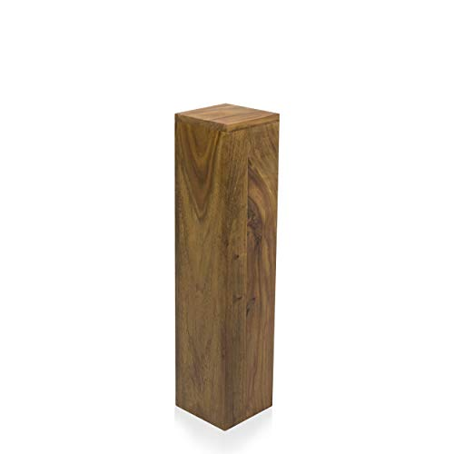 Blumensäulen Palisander Massivholz B/T/H 15x15x65 cm