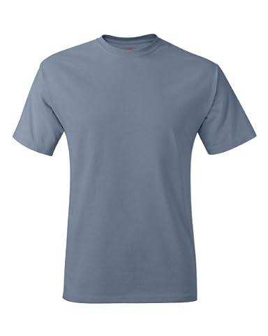 Hanes - T-shirt - Manches Courtes - Homme bleu Bleu délavé