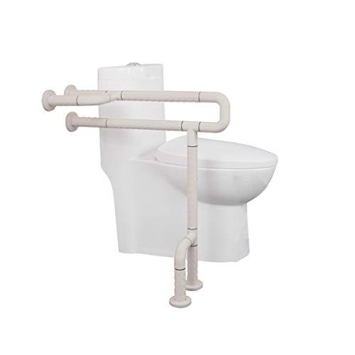 LLF Haltegriffe Anti-Skid WC Geländer, Waschraum Ohne Hindernisse Sicherheit Haltegriff Edelstahl Kunststoff Urinal Handlauf Ältere Behinderte (Color : Yellow, Size : 60 * 70cm)