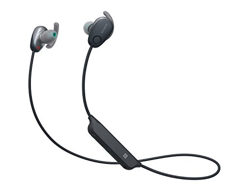 Sony WI-SP600NP Cuffie Wireless Sport Intrauricolari, Noise-Cancelling, Water-Proof IPX4, Nero