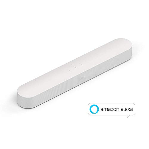 Sonos Beam Soundbar TV Smart e Compatta con Alexa Integrata, Bianco
