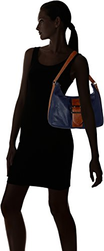 Tamaris - Lee Hobo Bag, Borse a spalla Donna Blu (Navy Comb)