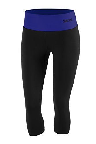 FITTECH PERFORMANCE Damen Thermoaktiv Legging Leggins Strumpfhose Tights Laufhose Caprihose 3/4 Leggings Fitness Pilates Outdoor Radsport...