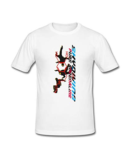 Spreadshirt Skydiving Fallschirmspringen Männer Slim Fit T-Shirt, L, Weiß