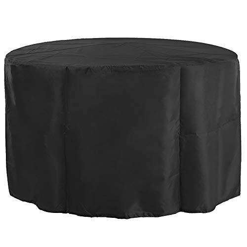 Bicaquu Im Freien wasserdichte Oxford-Stoff-runde Tabellen-Stühle staubdichte Abdeckung für Garten(130x71) -