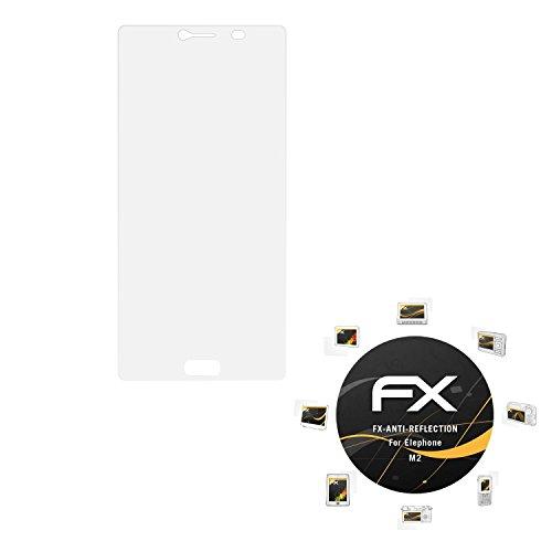 atFolix Panzerfolie kompatibel mit Elephone M2 Schutzfolie, entspiegelnde & stoßdämpfende FX Folie (3X)