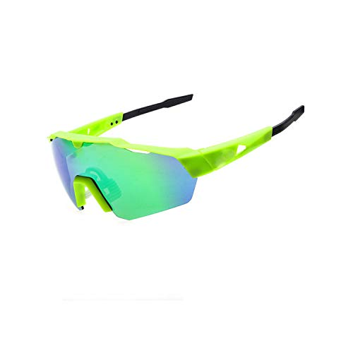 Vikimen Sportbrillen, Angeln Golfbrille,Cycling Glasses Mountain Bike Goggles Bicycle Sport Sunglasses MTB Cycling Eyewear Green