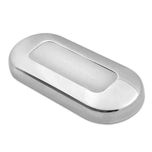 Dream Lighting 12V DC Treppenlicht/Flurlampe/Stufenleuchte/Nachtbeleuchtung für Auto Wohnwagen Wohnmobil RV Boot Yacht Reisemobil,außen/Innen,wasserdicht,Edelstahl Blau (Boot Blauen Led-leuchten)