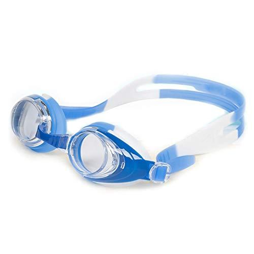 Bestehen Sie immer auf Erfolg Large Frame Brille, Boys HD HD wasserdichte Brille, Anti-Fog-Brille, Mädchen-Brille, Schwimmausrüstung, Brille, Multi-Color Optional, 3-8 Jahre alt (Color : Blue)