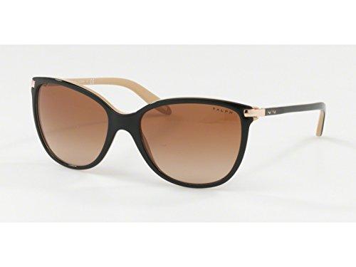 Ralph 0ra5160 109013, occhiali da sole donna, nero (black/nude/browngradient), 57