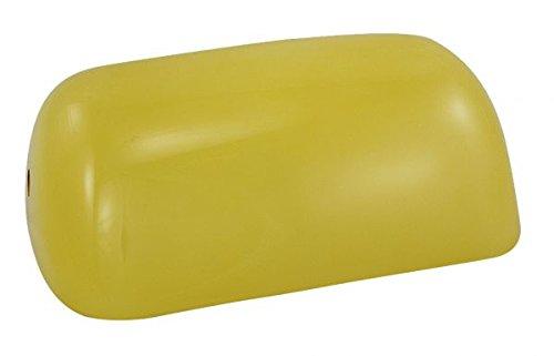 Schirm für Bankerslampe, gelb, Opalglasschirm- 22.5x 13x 7 cm