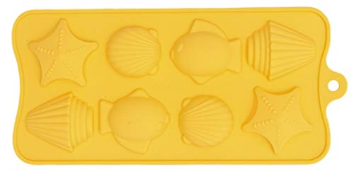 TEN-G Silicone Ice Tray & Mold for Gummy Bear, Jello, Chocolate, Soap, Crayon and More! (Sea Creatures) (Gummy Mold Tray Bear)