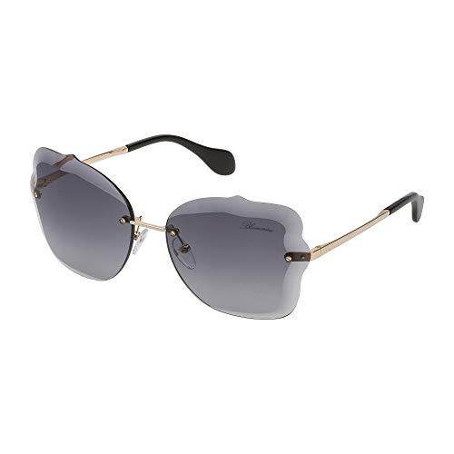 Blumarine occhiali da sole donna oro rose' lucido lenti smoke gradient sbm118 300f 63-16-135