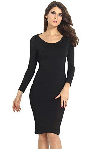 E-Girl femme Noir SY6271 robe de cocktail Noir