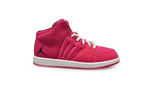 Nike Mädchen Jordan 1 Flight 4 GP Turnschuhe, Rosa/Schwarz/Weiß (Vivid Rosa/Schwarz-Weiß), 35 EU Rosa, Weiße Und Schwarze Jordans