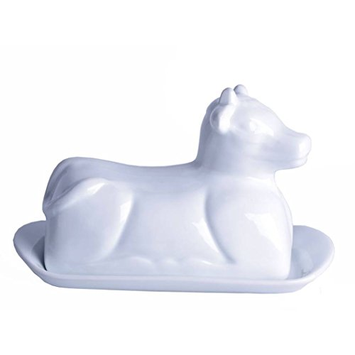 Butterdose Kuh Porzellan Käsedose