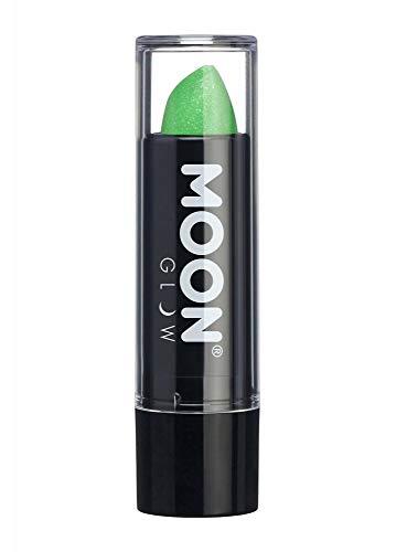 Grünen Lippenstift (Moon Glow - 5g Neon UV Glitzer-Lippenstift - Grün - Leuchtet hell in UV-Licht)