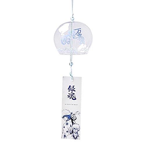 Homyl Japanischer Stil Glas Windspiel Klangspiel Fengshui Dekor, Haus Balkon Deko - 02