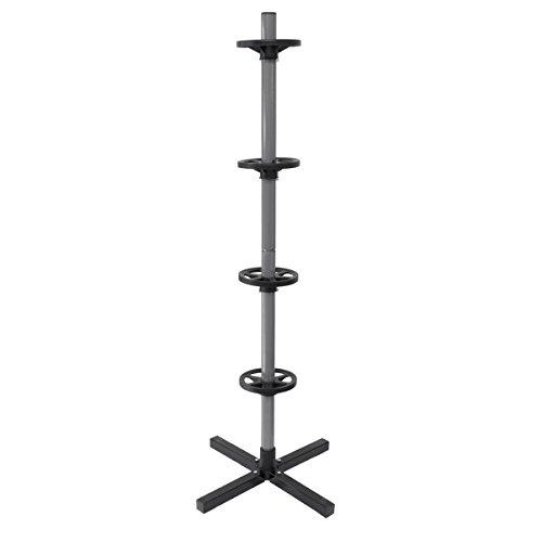 ECD Germany Felgenbaum 295mm Max. Belastbarkeit bis 100kg, LxBXH: 45 x 45 x 143,5 cm Alu Reifenhalter Felgenständer Reifenständer