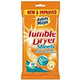 80 Tumble Dry Sheets 2 packs of 40