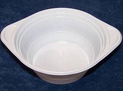 500 Suppenterrinen, PP rund 750 ml Ø 15,6 cm 6,5 cm weiss mit Anfasser