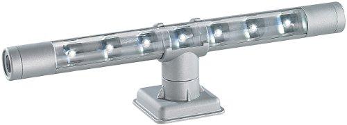 Lunartec Unterbauleuchte kabellos: Flexible kaltweiße 4in1-LED-Unterbauleuchte, mattsilber (Unterbauleuchte Küche ohne Kabel)