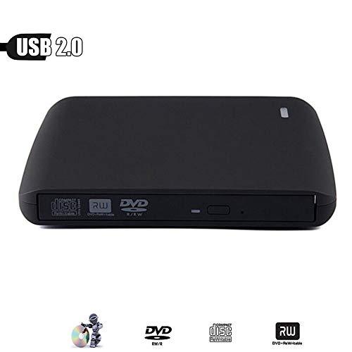 Externer tragbarer DVD-RW/CD-RW-Brenner mit USB 2.0-Brenner Rewriter CD-ROM-DVD-Player für PC HP ACER Lenovo