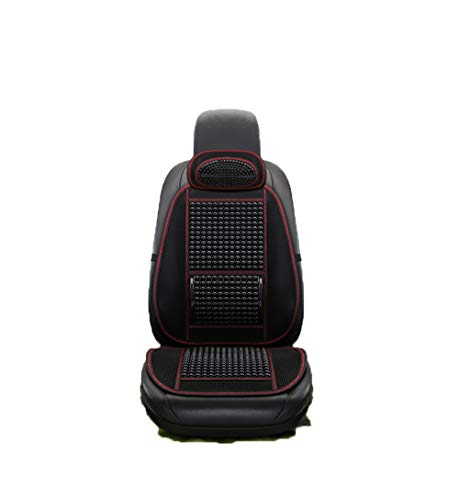 Coprisedile per auto Perline Massaggio supporto schiena Offerte Ultra Comfort Qualità premium traspirante Car Home Office Universal Pad freddo,Black