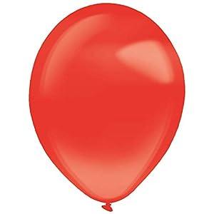 amscan 9905447 - Globos de látex (50 Unidades), Color Rojo