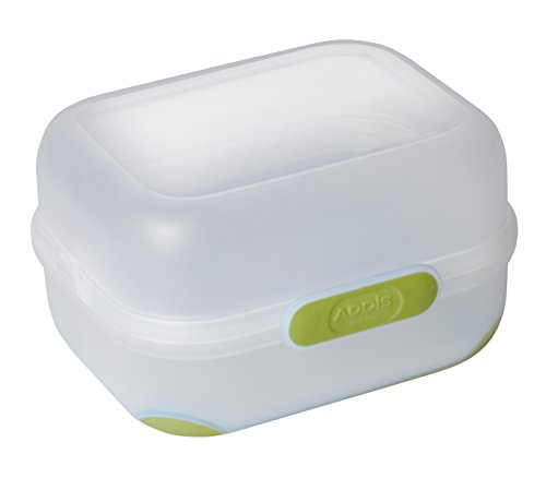 Green Go Lunch-box (Addis Clip and Go, Duo-Lunchbox, Butterbrotdose, Blau, 1600 ml, plastik, lindgrün, 14 x 17.5 x 9.5 cm)