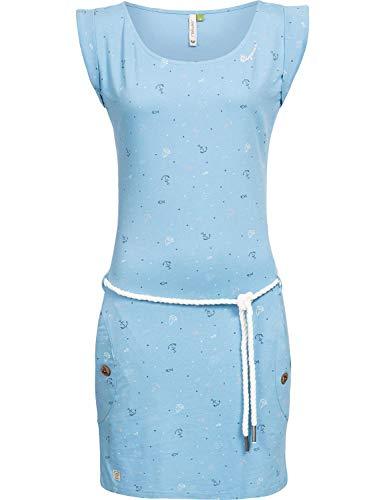Ragwear Damen Bio Baumwoll Jersey Kleid Tag A Organic Blue Gr. M