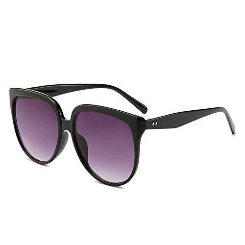 ZHAS High-End-Brillen Sonnenbrillen Frauen Retro Übergroße Sonnenbrillen Weibliche Brillen Big Frame Sonnenbrille Personalisierte High-End-Sonnenbrille Grau