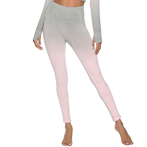 Felicove Damen Sport Leggings, Drucken Leggings Damen Fitness-Sporthose Gym Yoga Athletische Hosen Winterleggings Thermoleggings Workout Trainingshose Damen Sport Yogahose