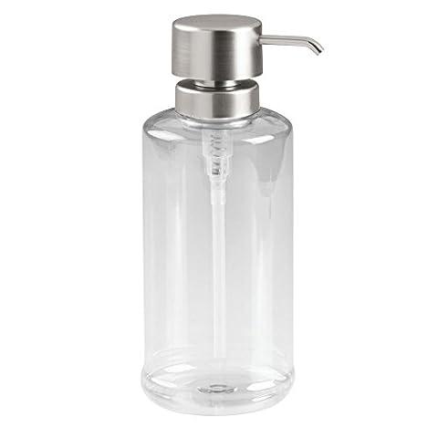 InterDesign Hamilton Soap Dispenser Pump for Bathroom, Kitchen Countertops -